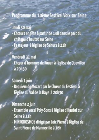 Programme du dixieme festival de chant choral